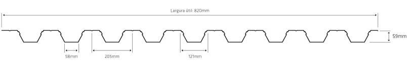 Lineve Desenho Técnico - Cobertura em Chapa Lacada - Chapa Perfilada - Colaborante