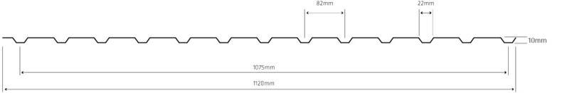 Lineve - Desenho Técnico - Cobertura em Chapa Lacada - Chapa Perfilada Quinada