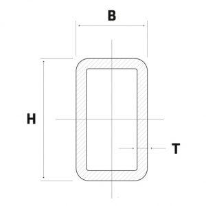 Lineve - Material Siderurgico - Tubo Zincado - Tubo Retangular_1